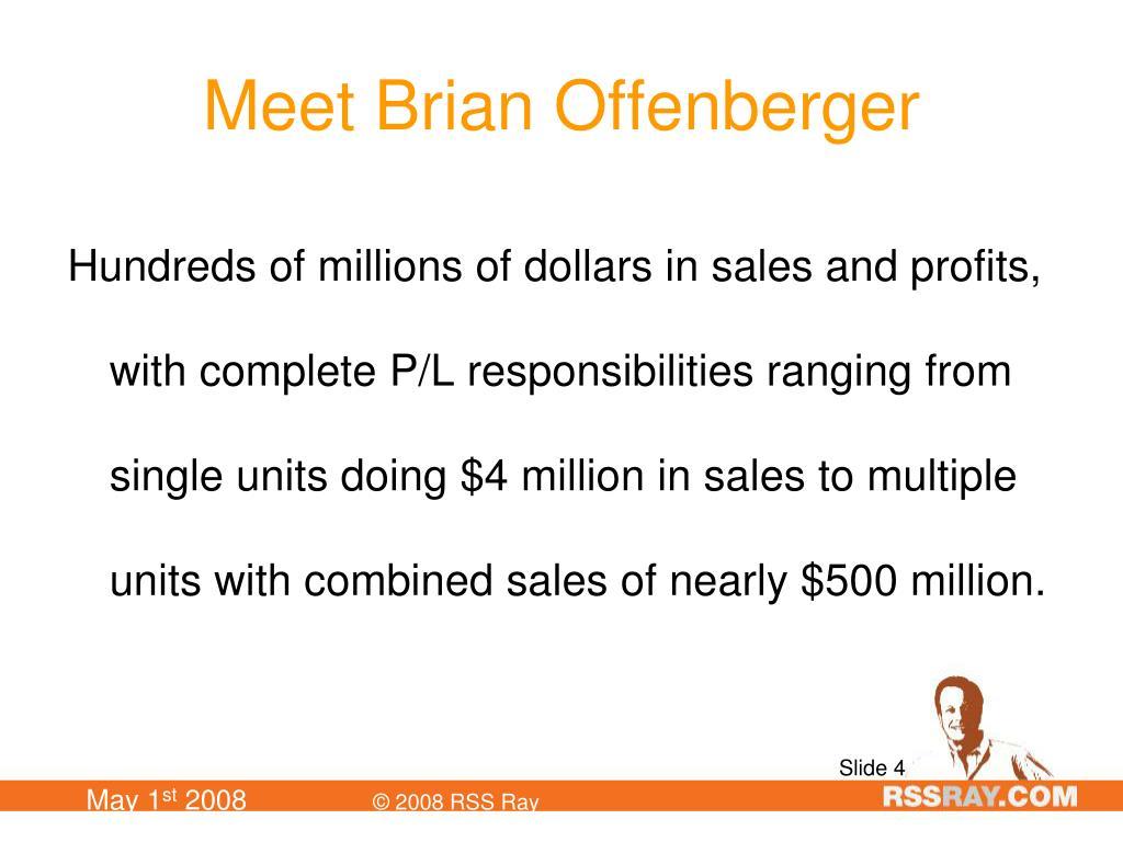 Meet Brian Offenberger