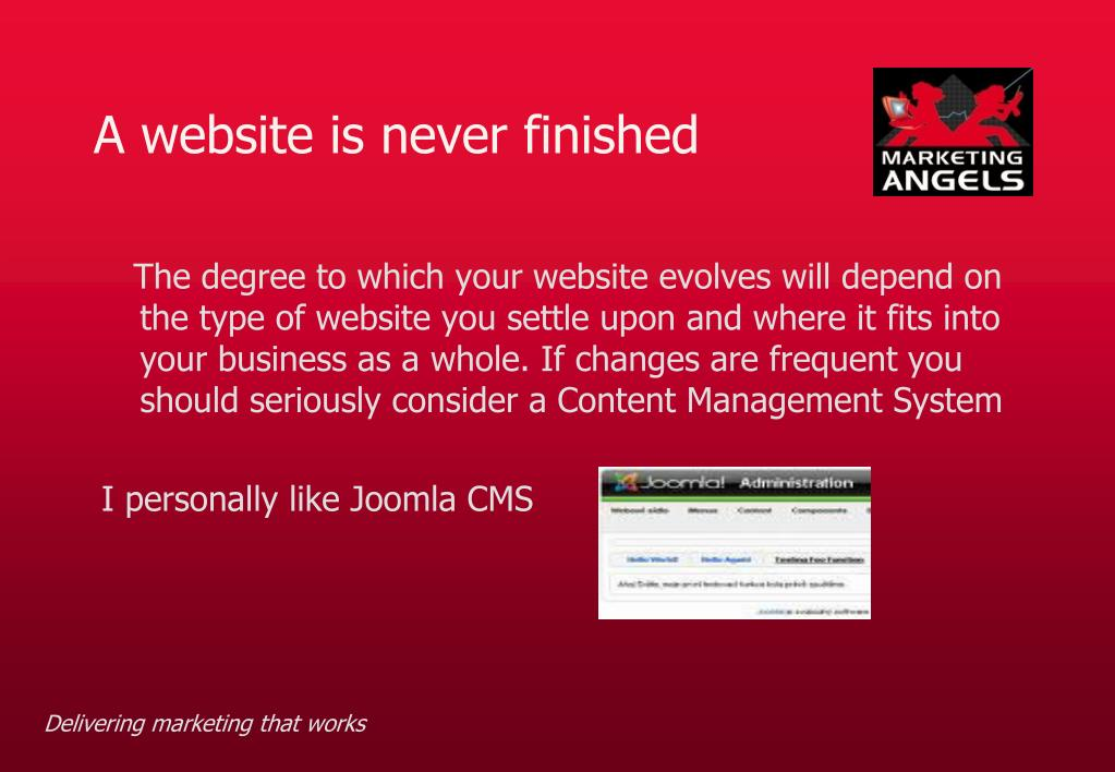 A website is never finished
