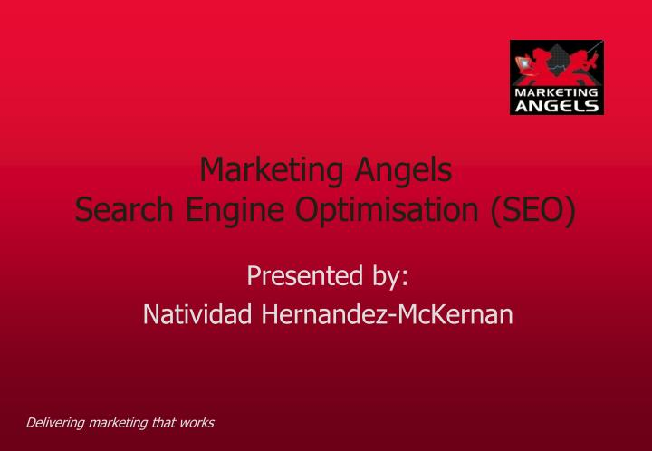 Marketing angels search engine optimisation seo