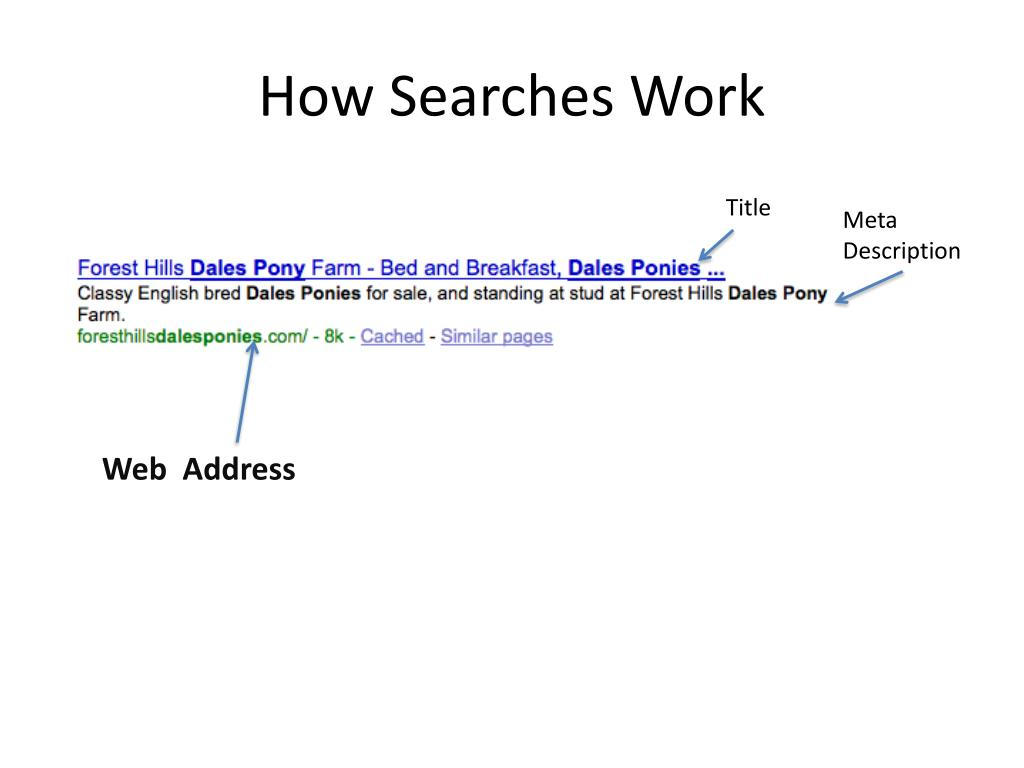 How Searches Work
