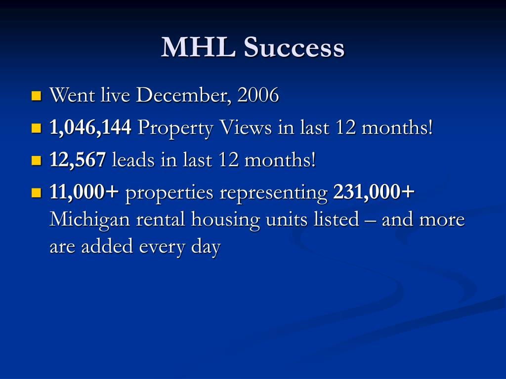 MHL Success
