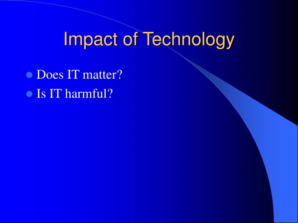 the impact of technology on american How technology effects our society is technology boon or bane for the society read the article to know the impact of technology on our society.