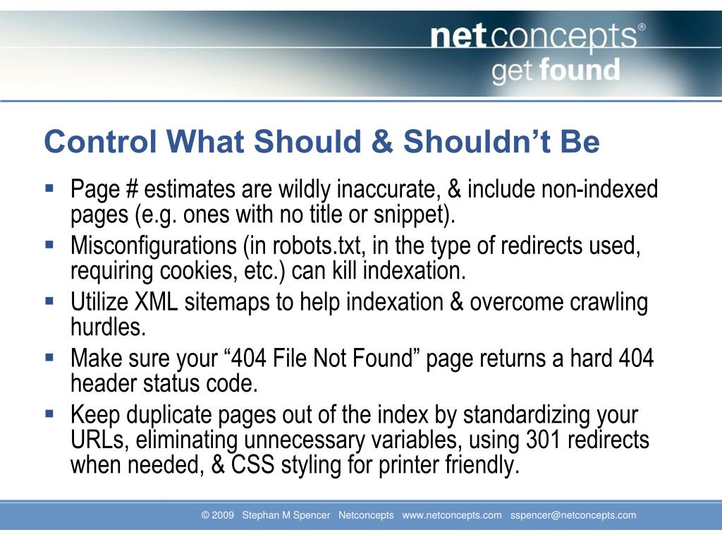 Control What Should & Shouldn't Be