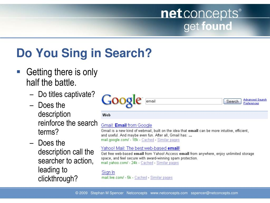 Do You Sing in Search?