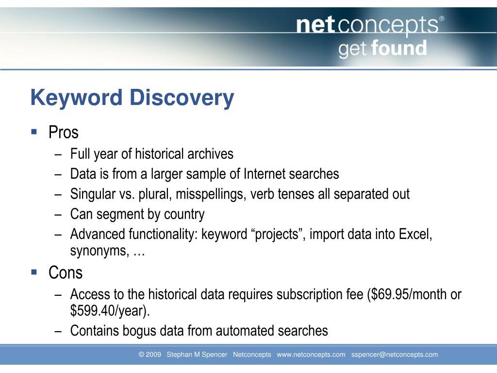 Keyword Discovery
