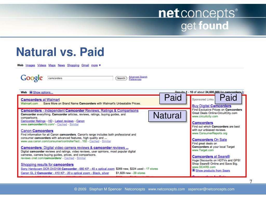 Natural vs. Paid