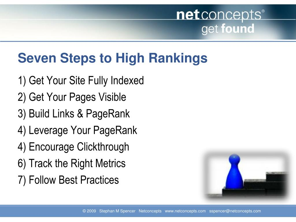 Seven Steps to High Rankings