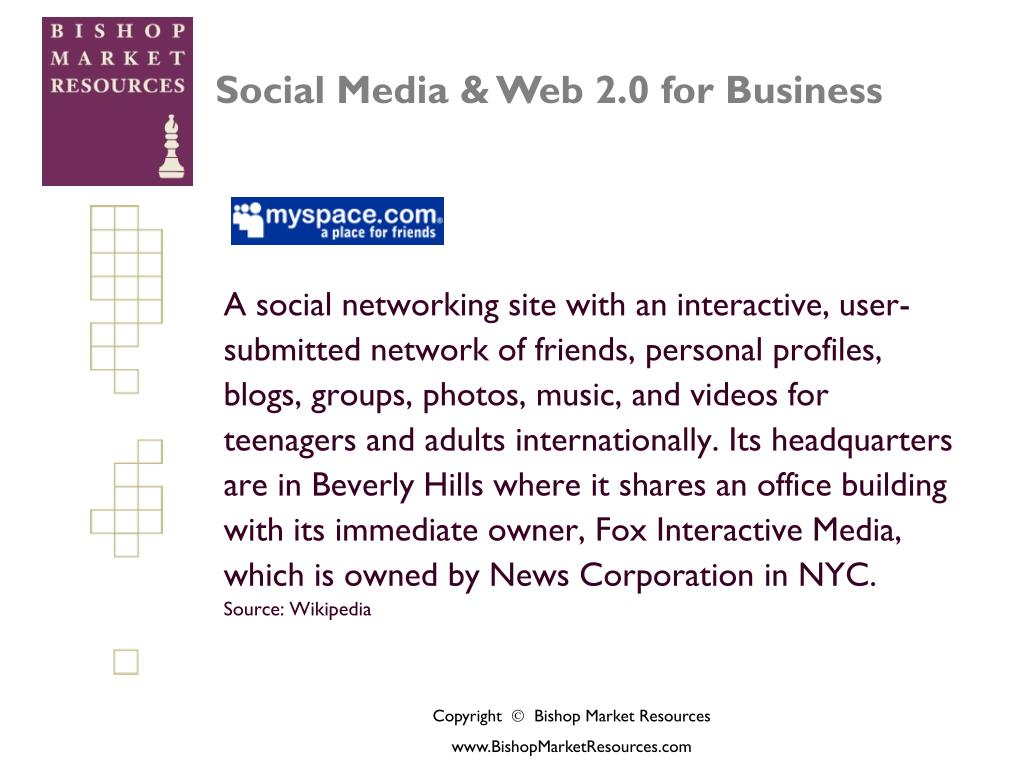 A social networking site with an interactive, user-