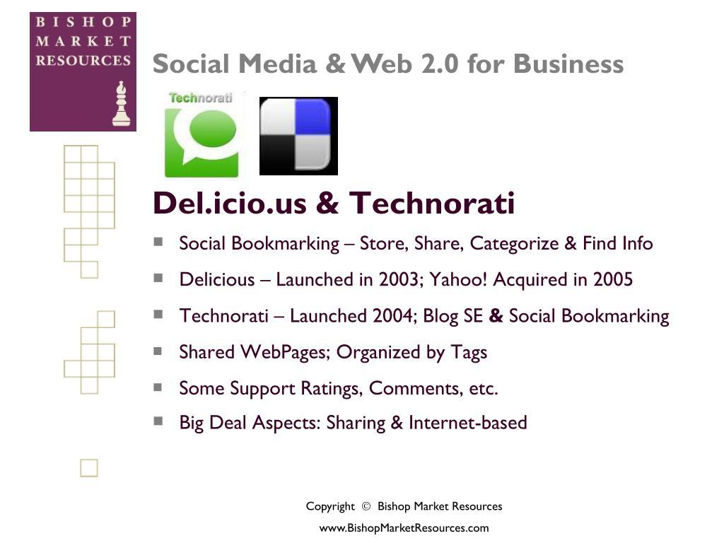 Del.icio.us & Technorati