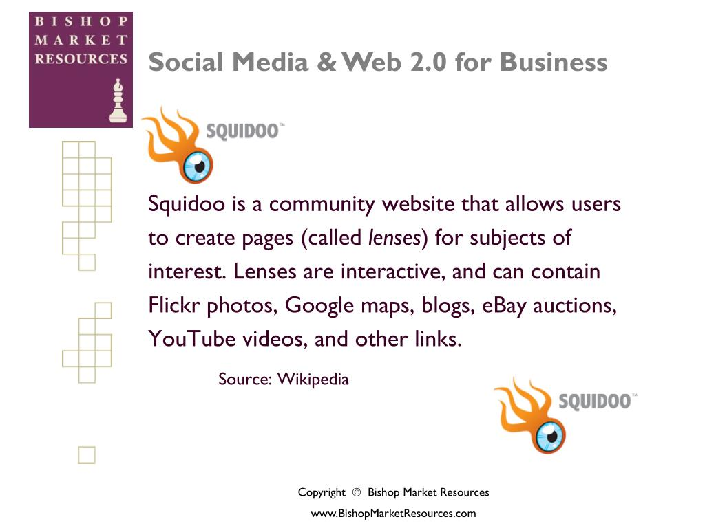 Squidoo is a community website that allows users