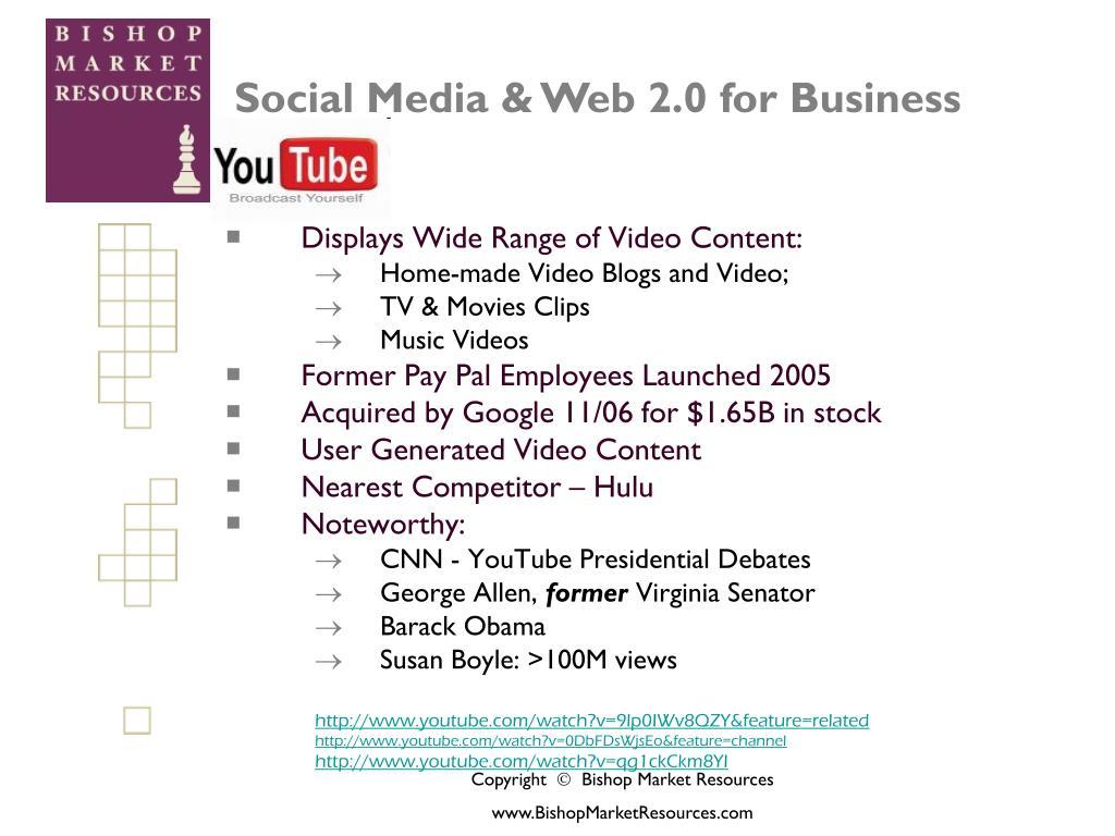 Displays Wide Range of Video Content: