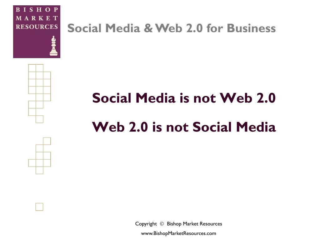 Social Media is not Web 2.0