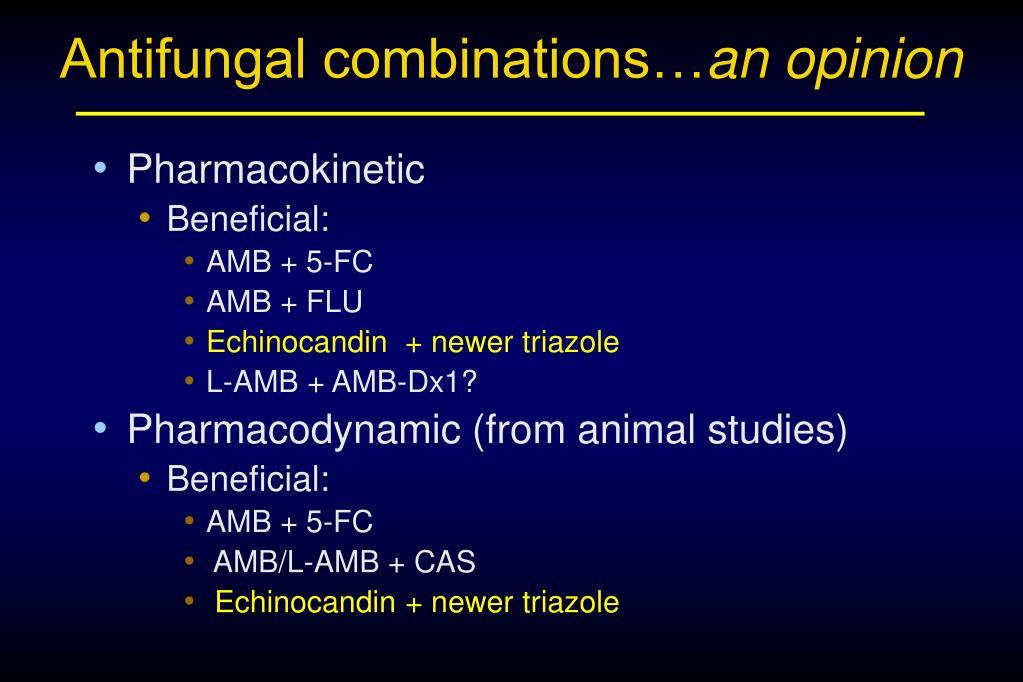 Antifungal combinations…