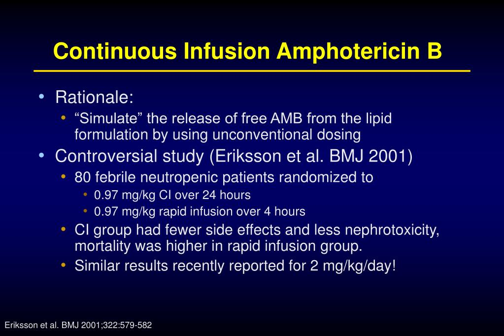 Continuous Infusion Amphotericin B