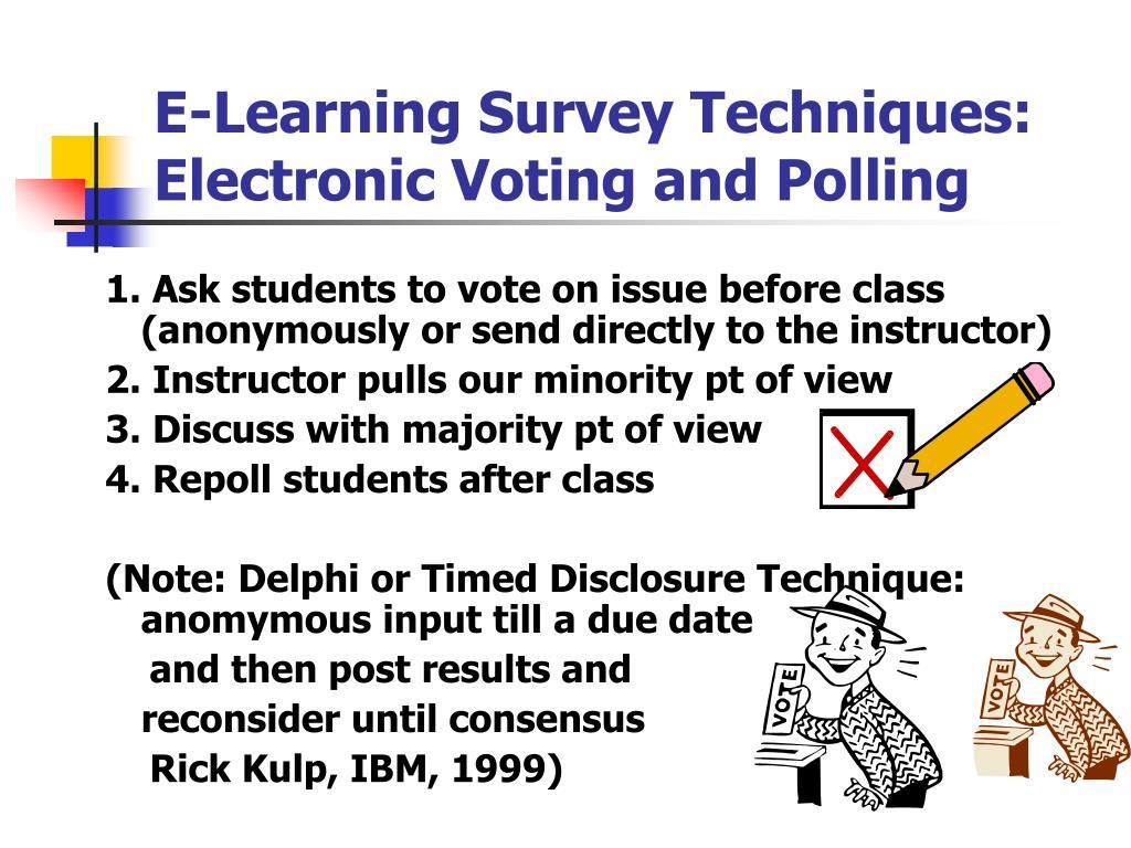 E-Learning Survey Techniques: