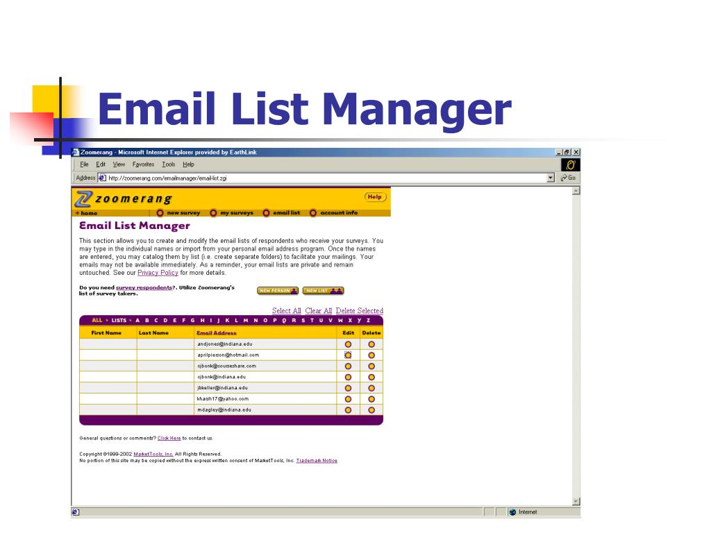 Email List Manager