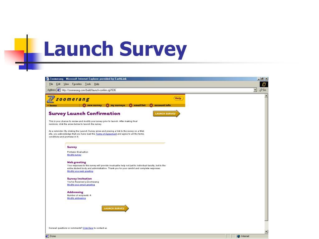 Launch Survey