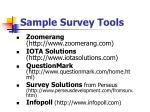 sample survey tools