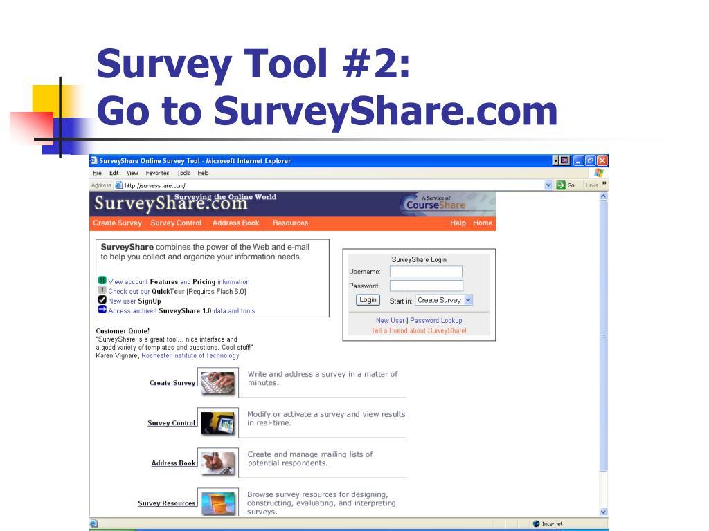 Survey Tool #2: