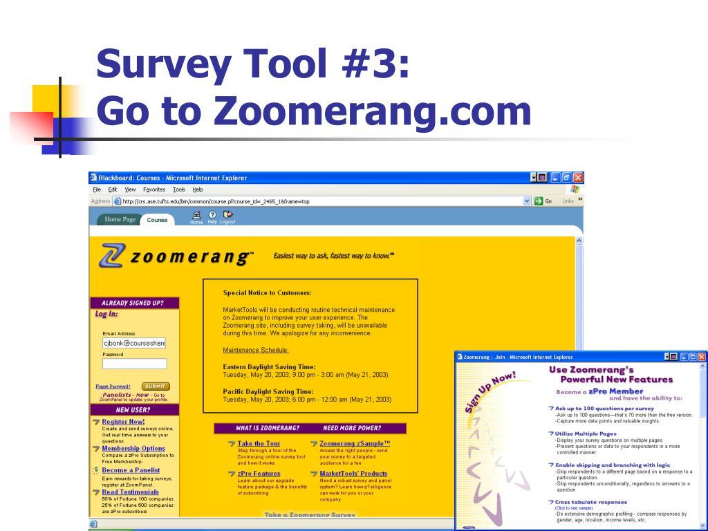Survey Tool #3: