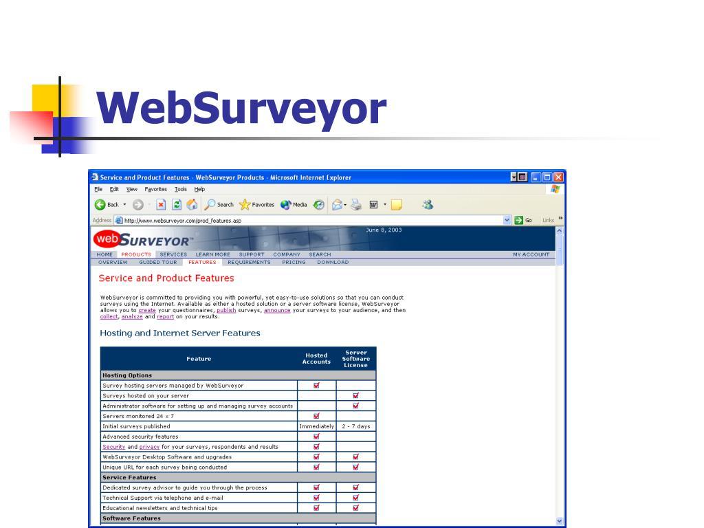 WebSurveyor