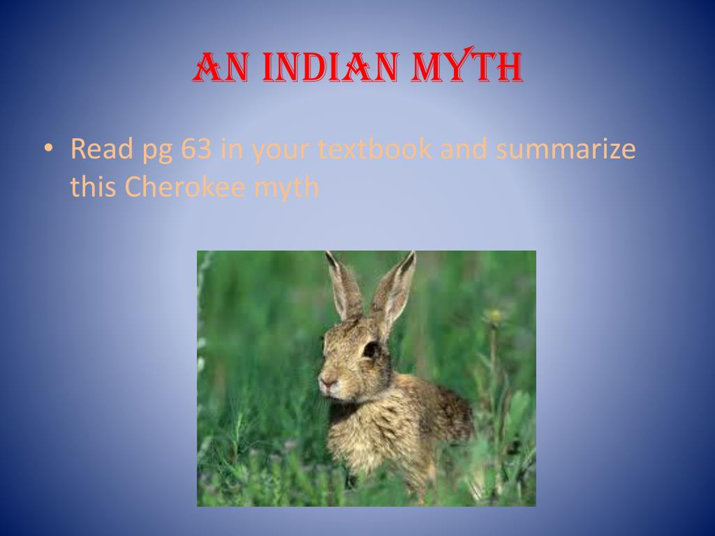 An Indian Myth