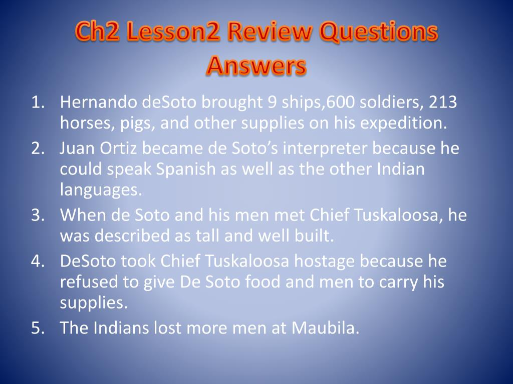 Ch2 Lesson2 Review Questions Answers