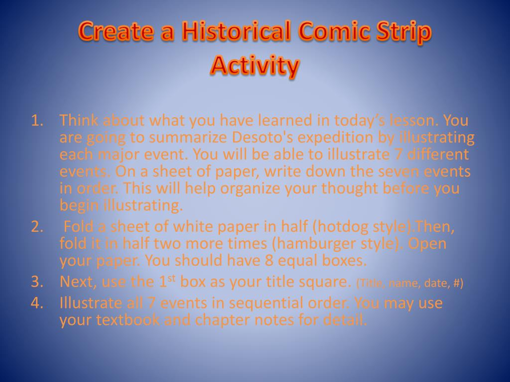 Create a Historical Comic Strip