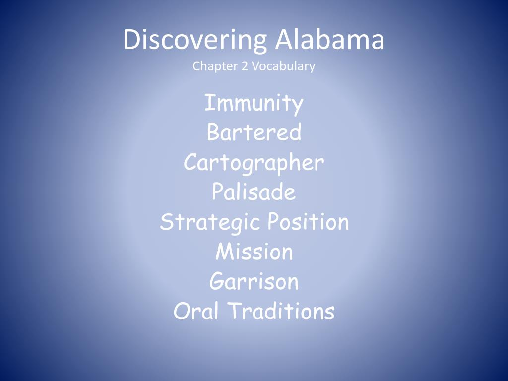 Discovering Alabama