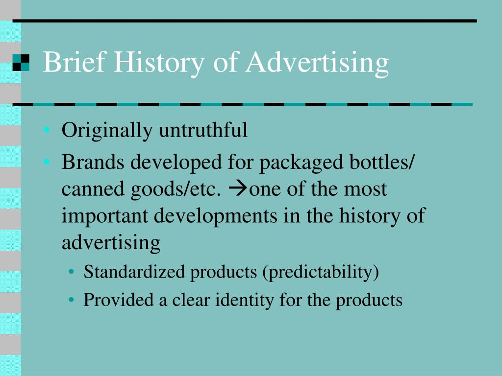 Brief History of Advertising