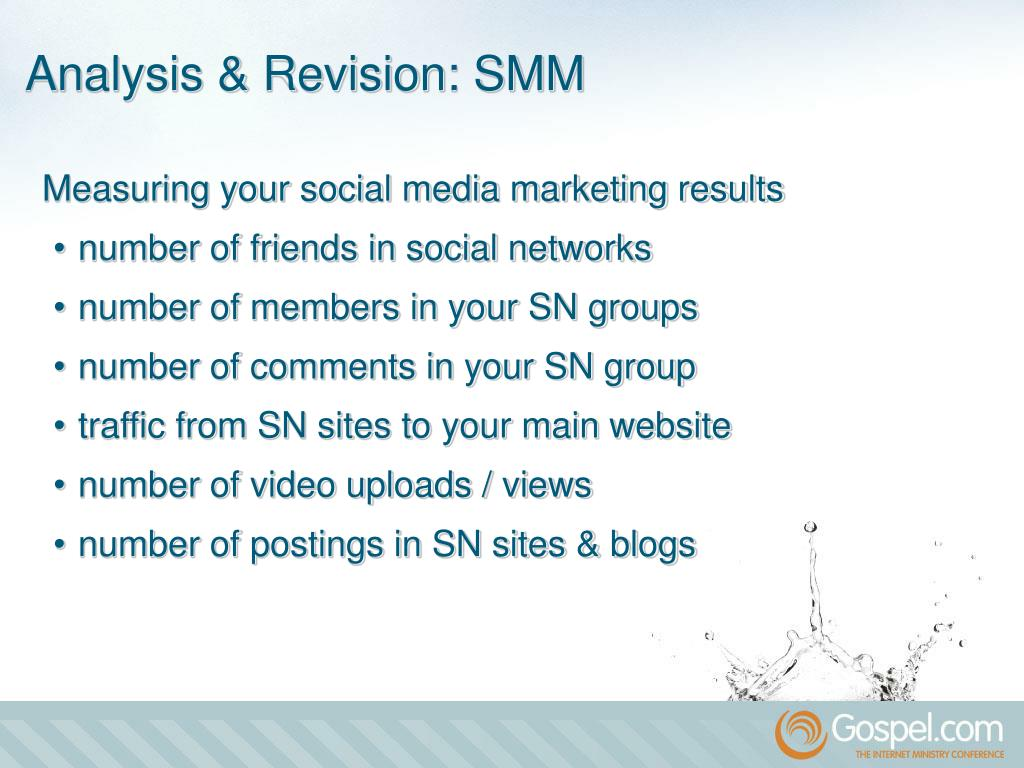 Measuring your social media marketing results