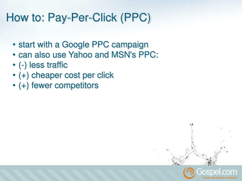 •start with a Google PPC campaign