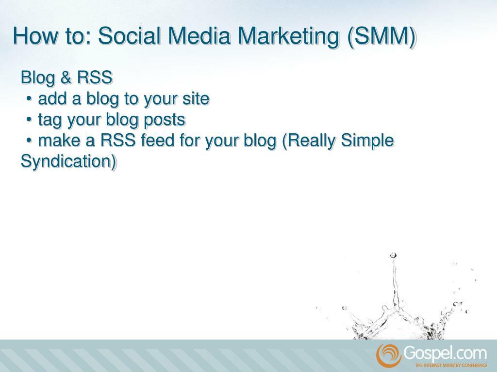 Blog & RSS