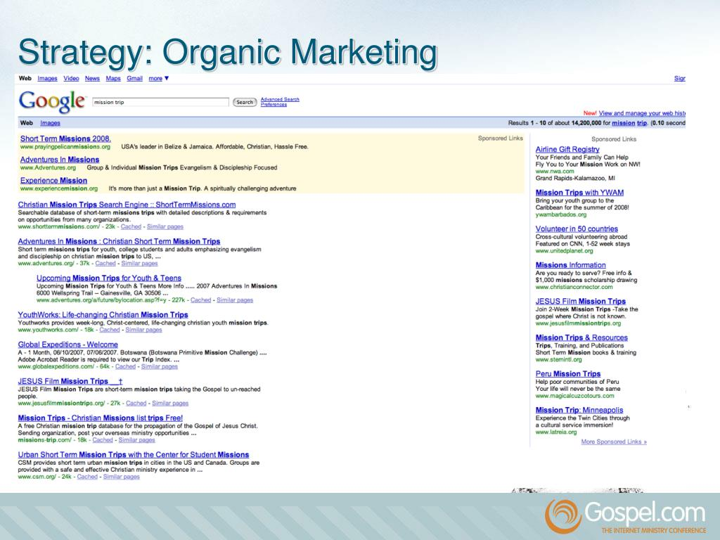 Strategy: Organic Marketing