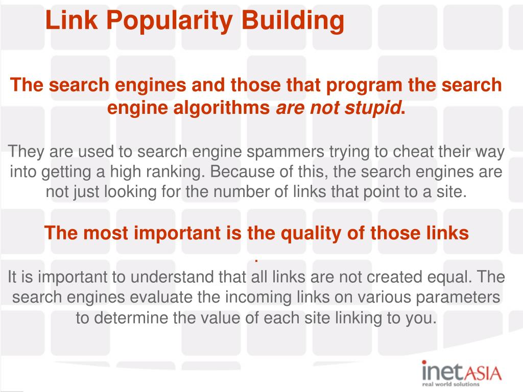 Link Popularity Building