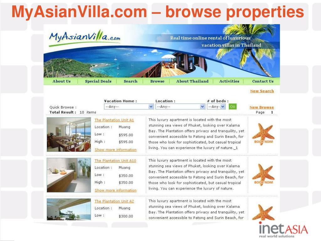 MyAsianVilla.com – browse properties