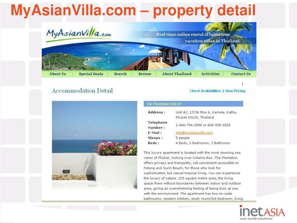 MyAsianVilla.com – property detail