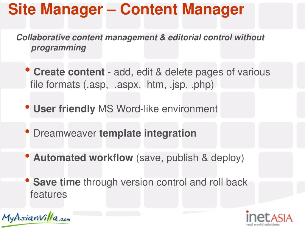 Collaborative content management & editorial control without programming