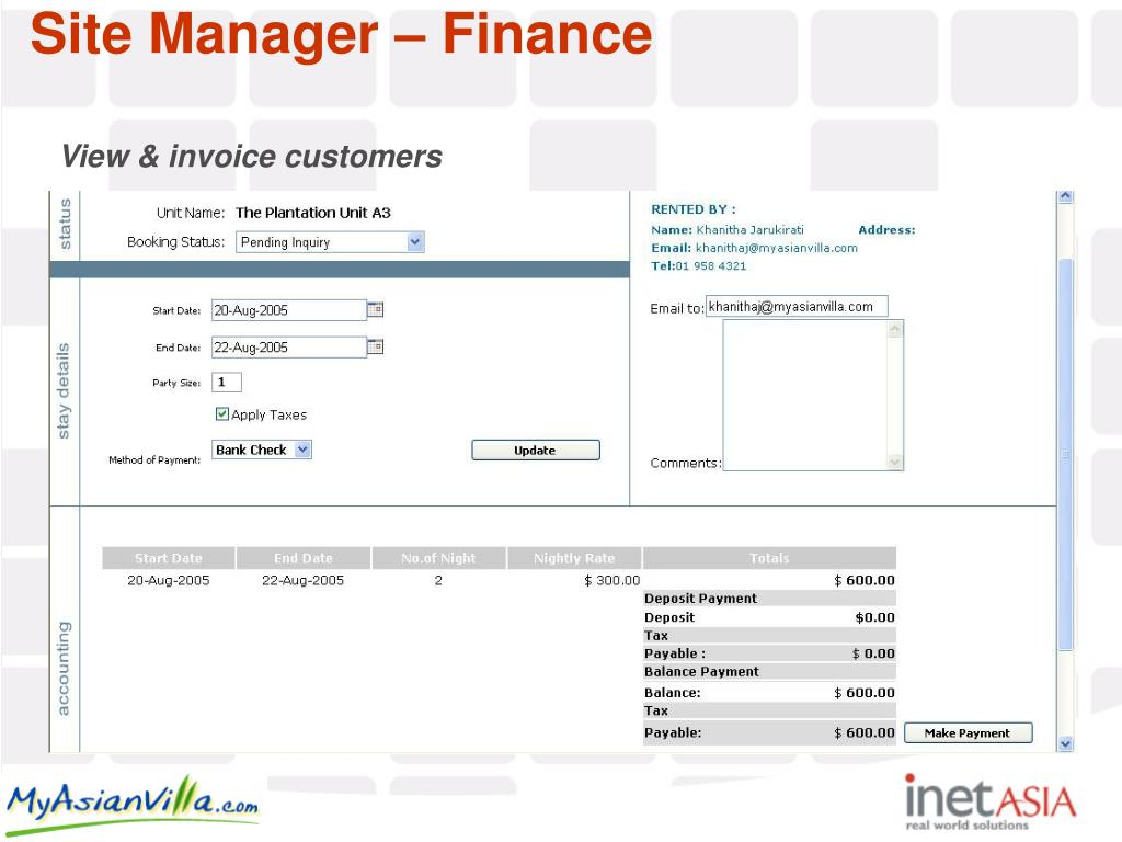 View & invoice customers