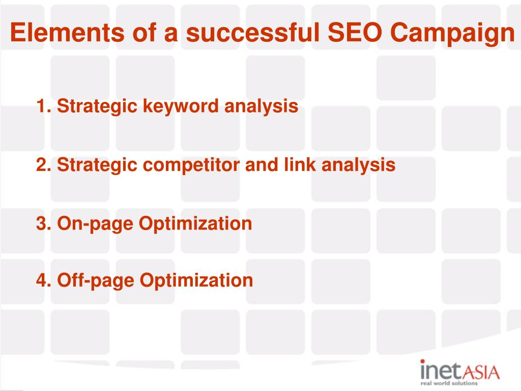 Elements of a successful SEO Campaign