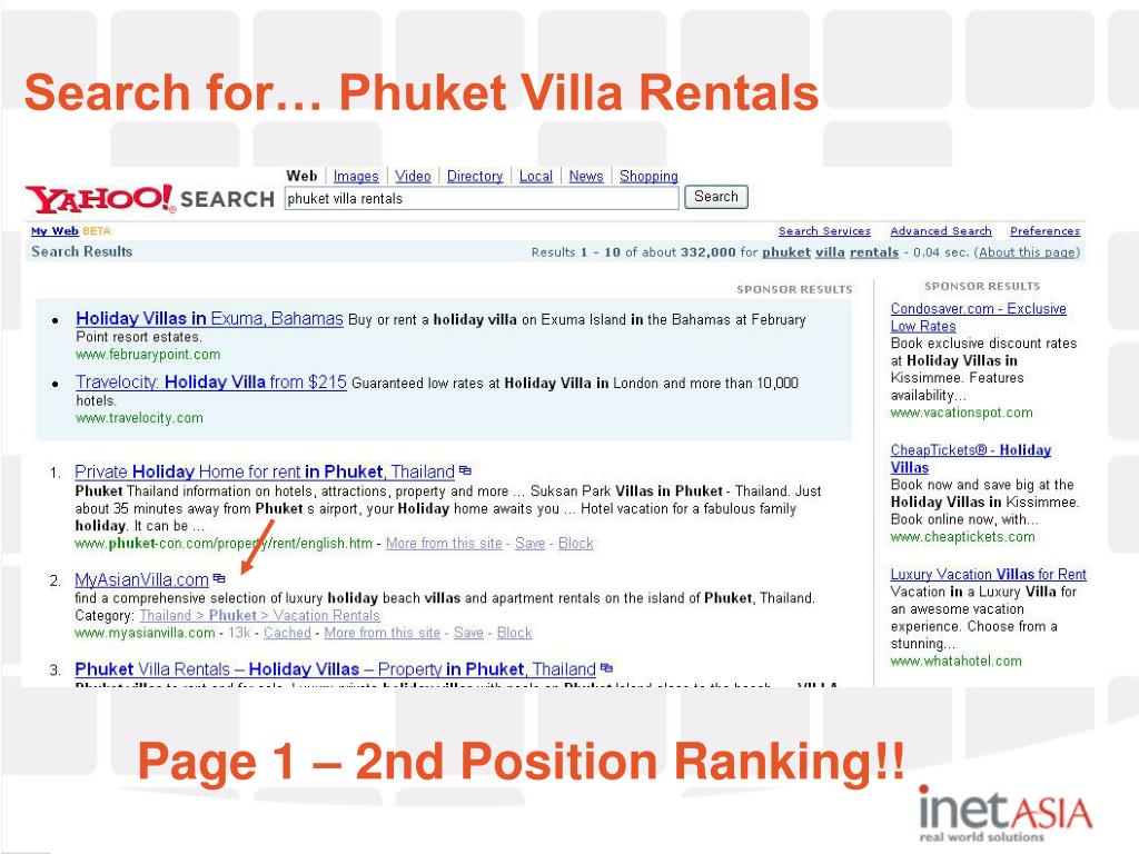 Search for… Phuket Villa Rentals