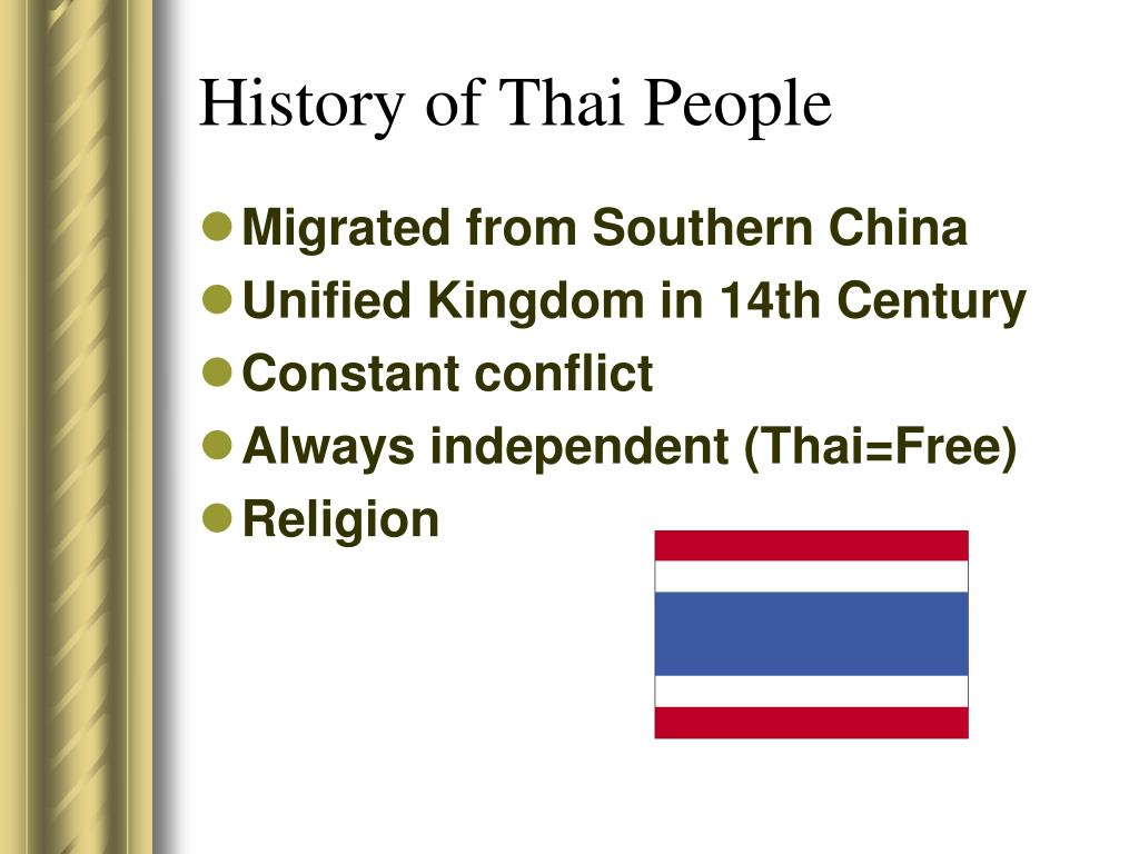 History of Thai People