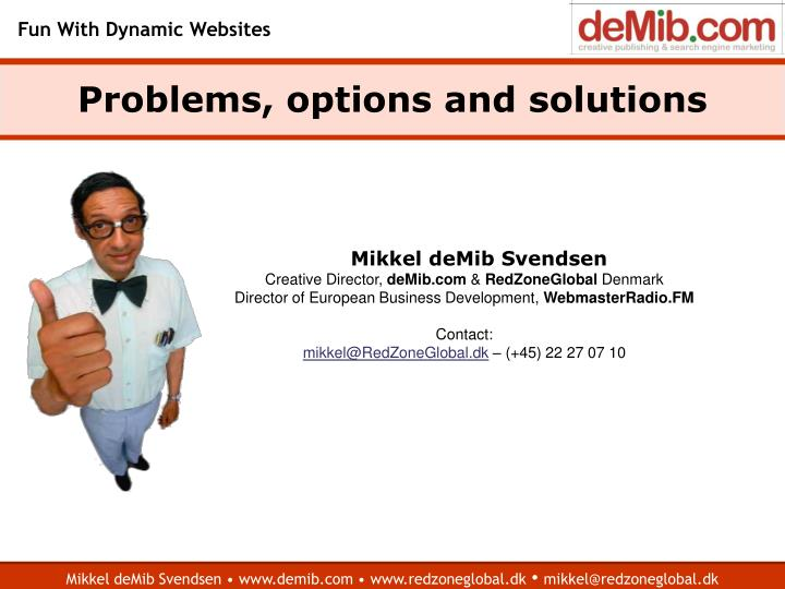 Problems options and solutions