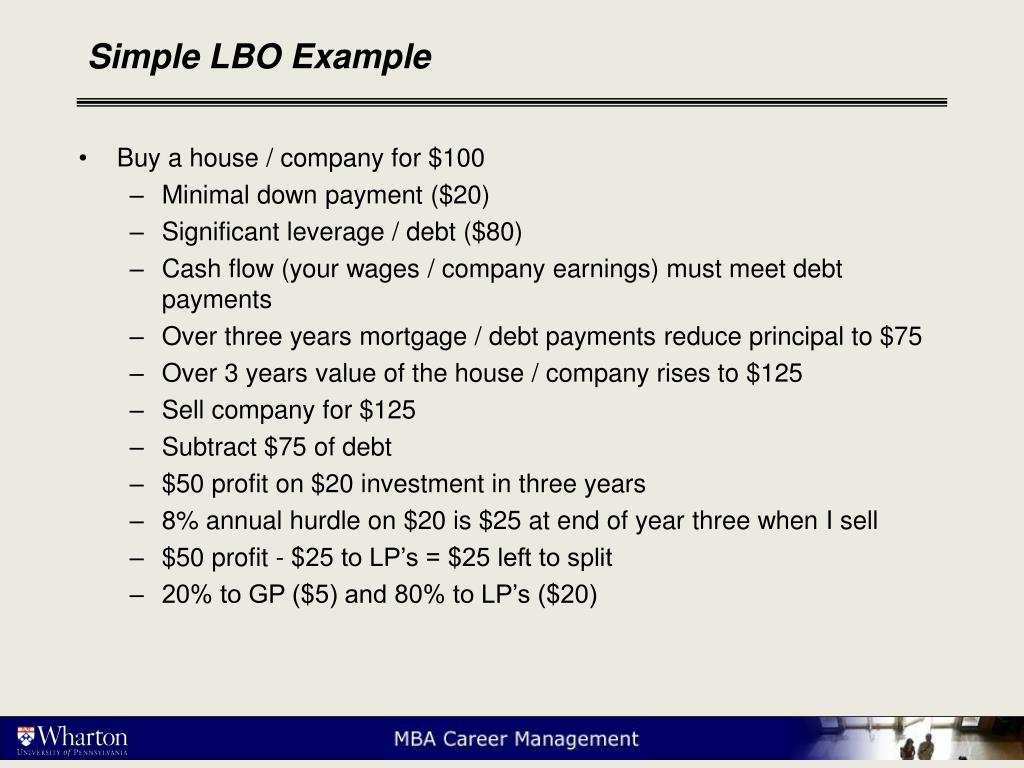 Simple LBO Example