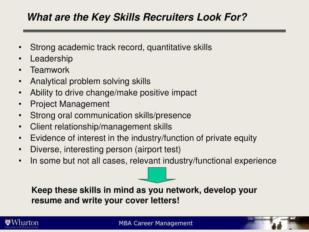 What are the Key Skills Recruiters Look For?