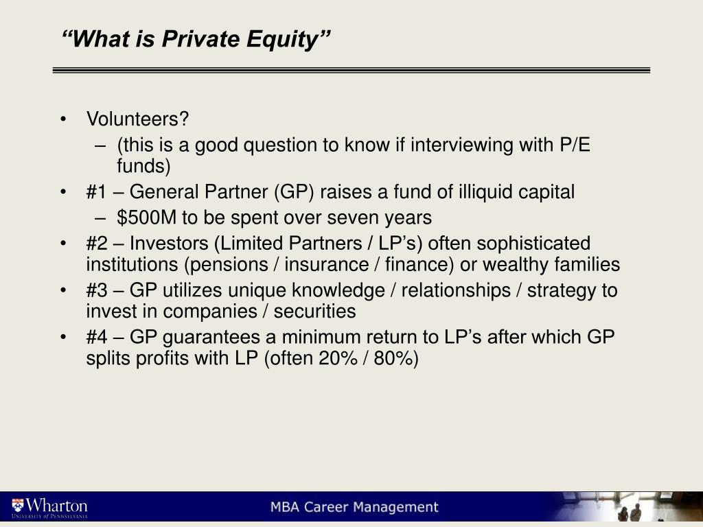 """What is Private Equity"""