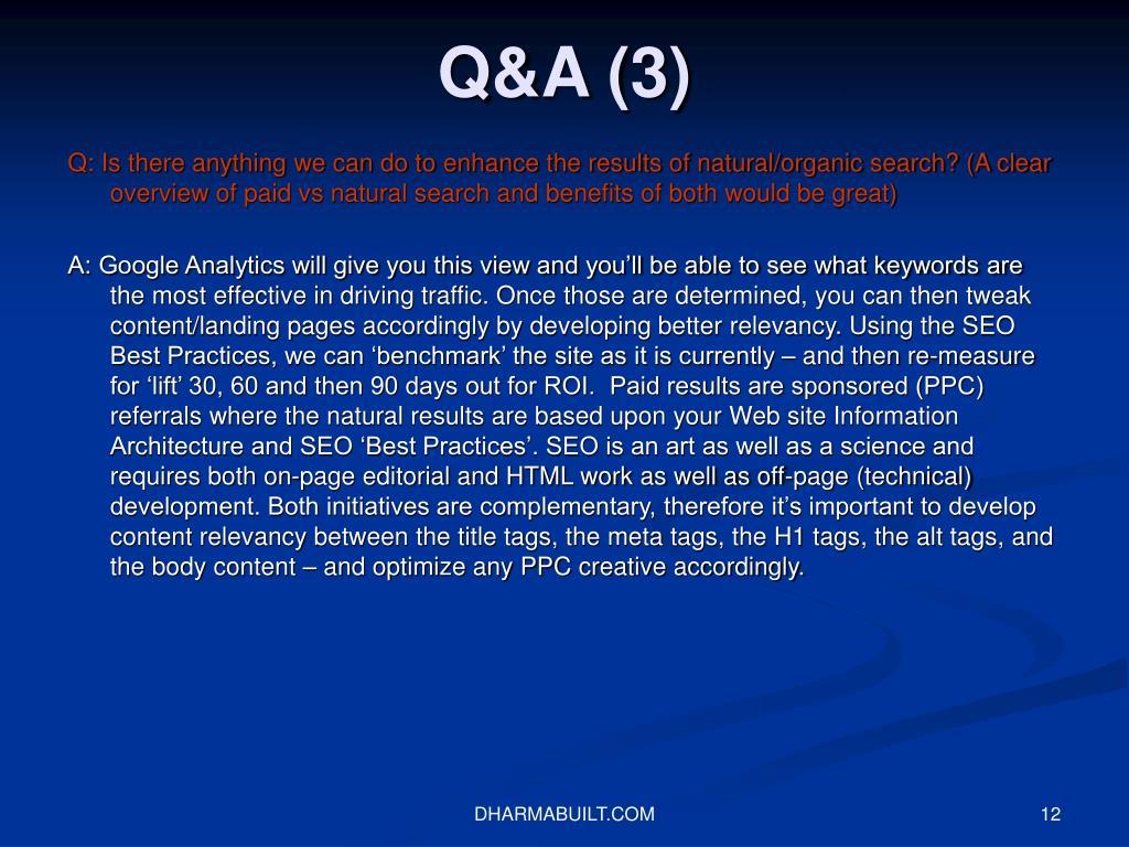 Q&A (3)
