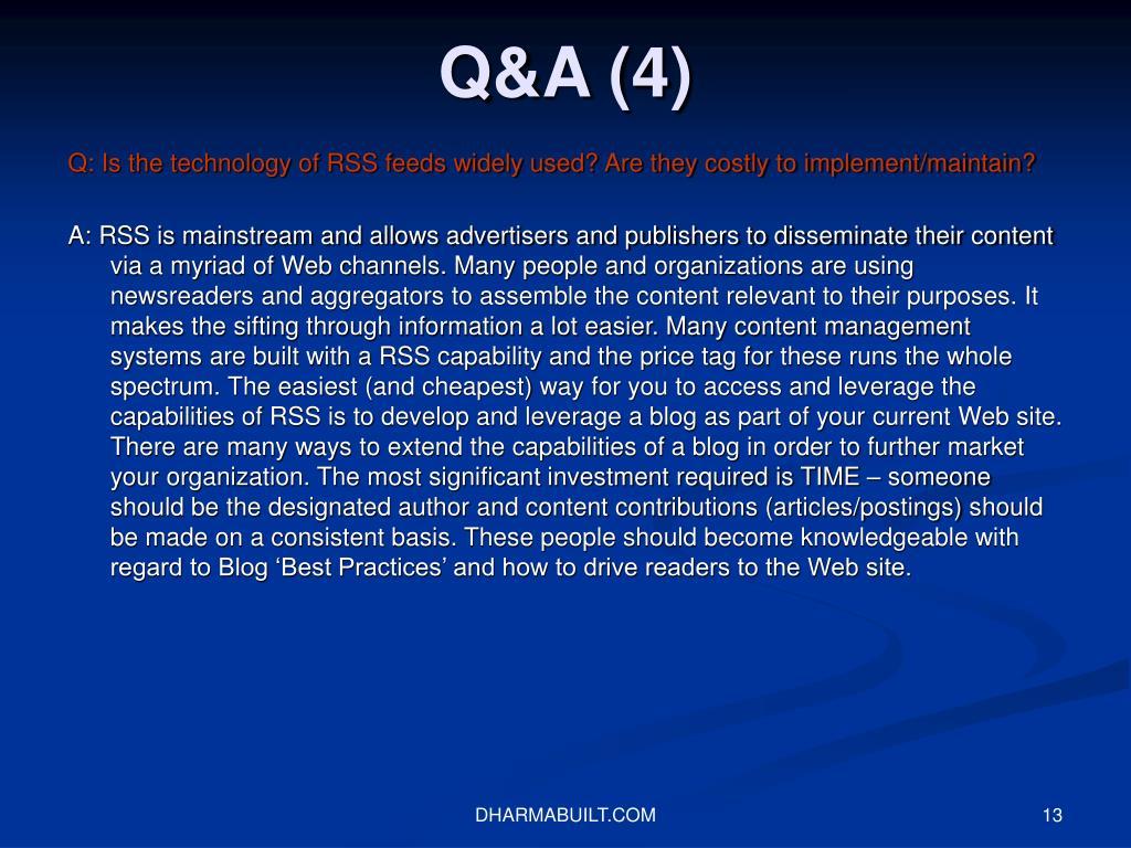 Q&A (4)