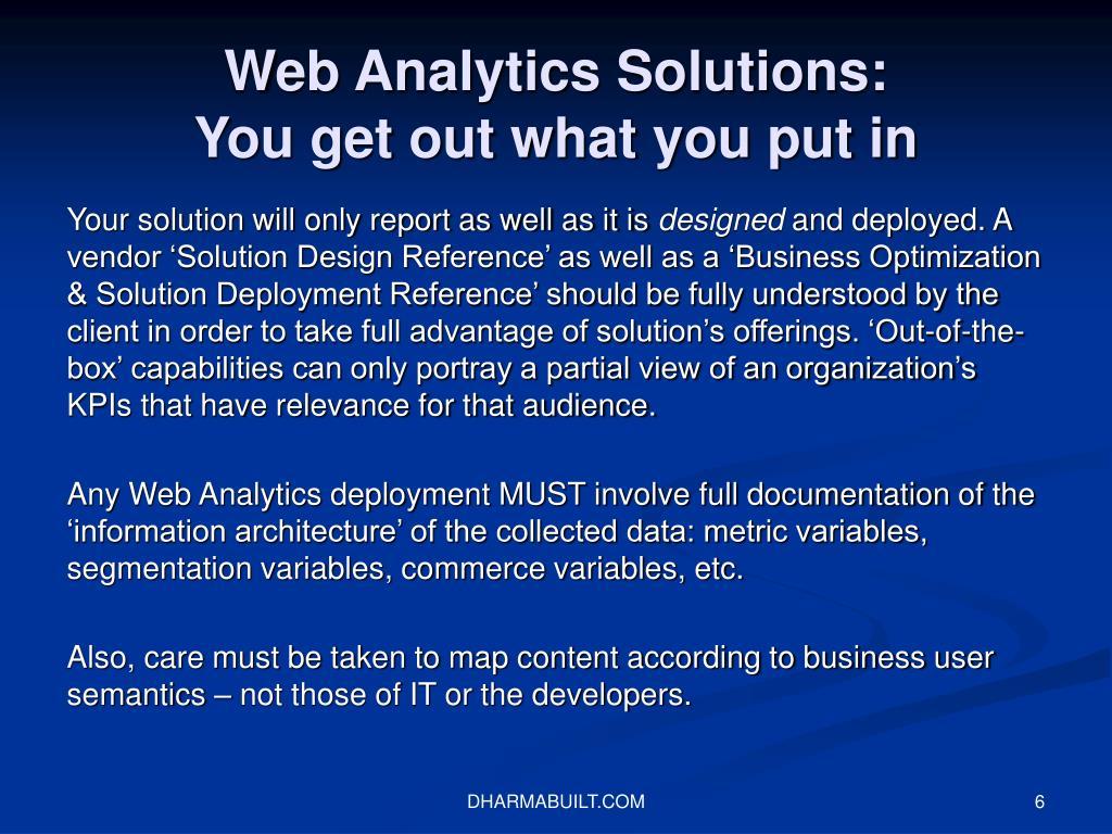 Web Analytics Solutions: