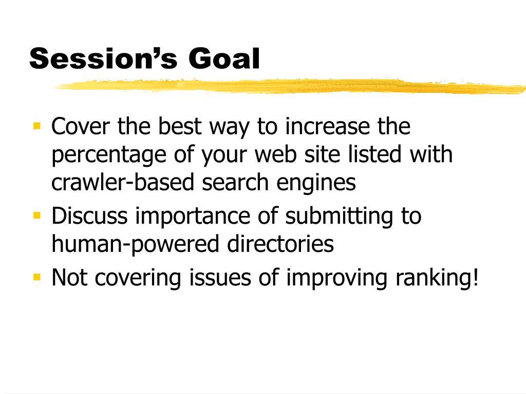 Session's Goal